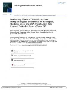 Modulatory Effects of Quercetin on Liver ...