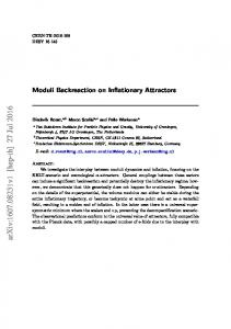 Moduli Backreaction on Inflationary Attractors