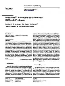 Modulite : A Simple Solution to a Difficult Problem