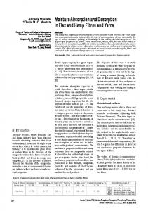Moisture Absorption and Desorption in Flax and Hemp Fibres and ...