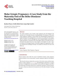 Molar Ectopic Pregnancy - Scientific Research Publishing