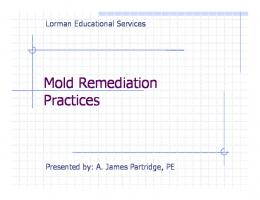 Mold Remediation Practices - James Partridge Consulting, LLC