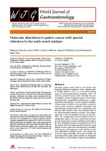 Molecular alterations in gastric cancer with special reference to the ...