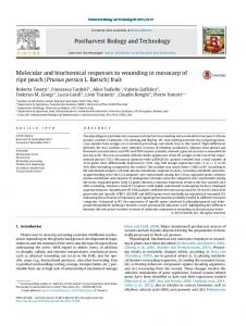 Molecular and biochemical responses to wounding in