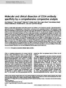 Molecular and clinical dissection of CD24 antibody specificity ... - Nature