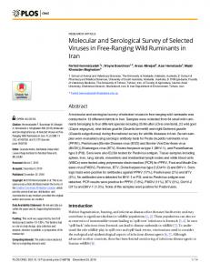 Molecular and Serological Survey of Selected Viruses in Free