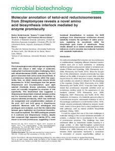 Molecular annotation of ketolacid ... - Wiley Online Library