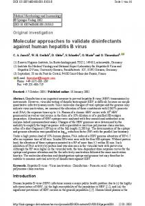 Molecular approaches to validate disinfectants against human ...