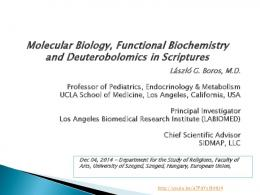 Molecular Biology, Functional Biochemistry and ...