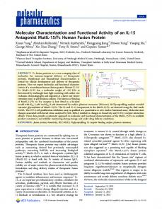 Molecular Characterization and Functional Activity ... - ACS Publications