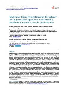 Molecular Characterization and Prevalence of Trypanosoma Species ...