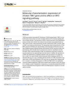 Molecular characterization, expression of chicken