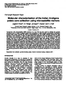 Molecular characterization of the Indian ... - Academic Journals