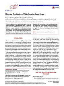 Molecular Classification of Triple-Negative Breast Cancer