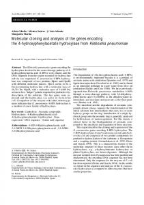Molecular cloning and analysis of the genes encoding the 4 ...