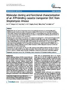 Molecular cloning and functional characterization of an ATP-binding ...