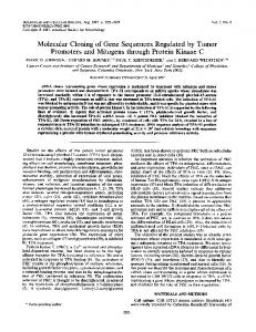 Molecular Cloning of Gene Sequences Regulated by ... - Europe PMC
