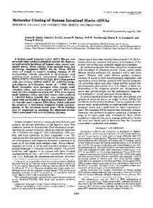 Molecular Cloning - The Journal of Biological Chemistry