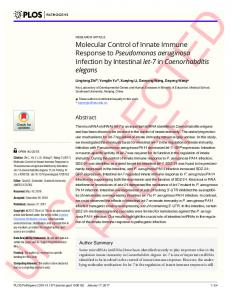 Molecular Control of Innate Immune Response to