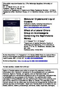 Molecular Crystals and Liquid Crystals Effect of a ...