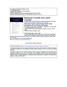 Molecular Crystals and Liquid Crystals