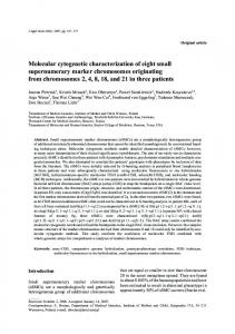 Molecular cytogenetic characterization of eight small supernumerary ...