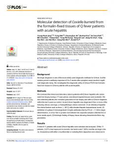 Molecular detection of Coxiella burnetii from the