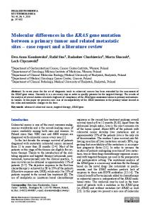 Molecular differences in the KRAS gene mutation between a primary ...