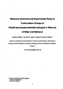 Molecular Dynamics and Experimental Study of Conformation Change ...