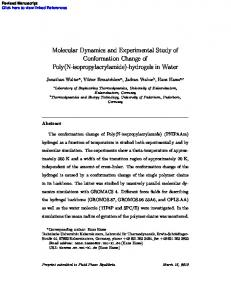 Molecular Dynamics and Experimental Study of