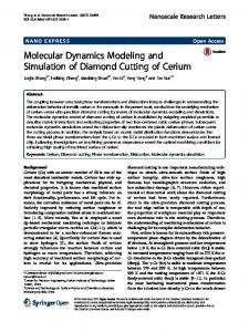 Molecular Dynamics Modeling and Simulation of Diamond Cutting of ...