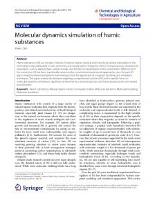 Molecular dynamics simulation of humic substances