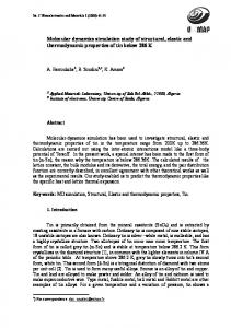 Molecular dynamics simulation study of structural, elastic and
