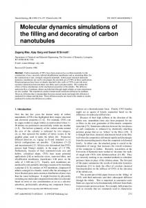 Molecular dynamics simulations of the filling and