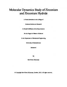 Molecular Dynamics Study of Zirconium and