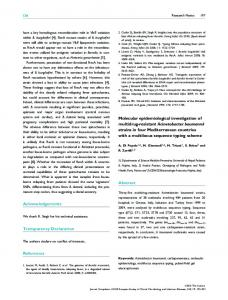 Molecular epidemiological investigation of ... - Wiley Online Library