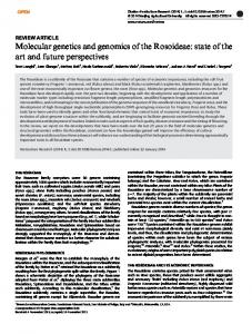 Molecular genetics and genomics of the Rosoideae - IRIS Unimore