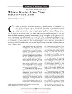 Molecular Genetics of Color Vision and Color Vision Defects