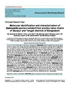 Molecular identification and characterization of ... - Academic Journals