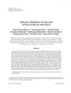 Molecular modulation of expression of prion protein by ... - Springer Link