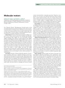 Molecular motors - Molecular Biology of the Cell