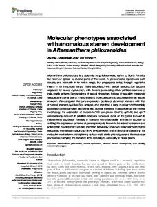 Molecular phenotypes associated with anomalous ... - Semantic Scholar