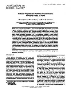 Molecular Properties and Activities of Tuber ... - ACS Publications