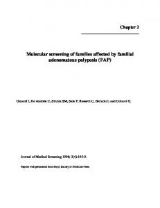 Molecular screening of families affected by familial adenomatous ...