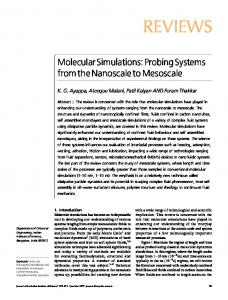 Molecular Simulations: Probing Systems from the Nanoscale to