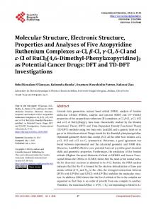Molecular Structure, Electronic Structure, Properties and Analyses of ...