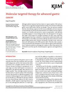 Molecular targeted therapy for advanced gastric ... - Semantic Scholar
