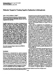 Molecular Targets for Treating Cognitive ... - Oxford Academic