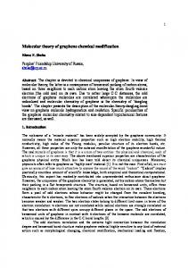 Molecular theory of graphene chemical modification - arXiv