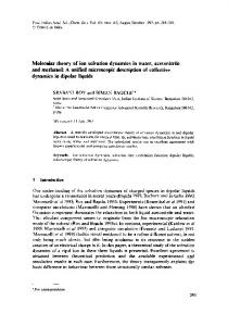 Molecular theory of ion solvation dynamics in water, acetonitrile and ...